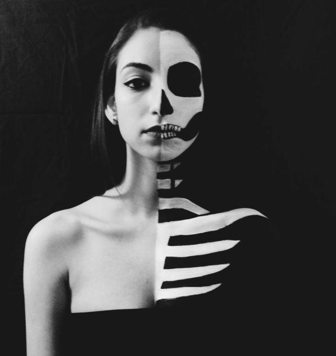 Sabrina Flores Half and Half Skull